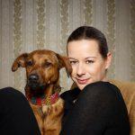 Hedi Breit mit Hund Lola